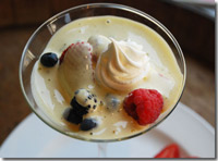 White Chocolate Zabaglione With Fresh Berries