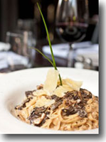 Morel Pasta with Port Wine Cream Sauce