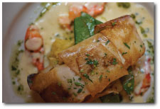 Potato Wrapped Halibut w/ Lobster - Tarragon Beurre Blanc